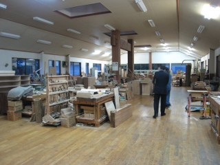 A large woodworking shop with modern facilities
